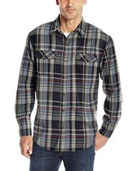 G.H. Bass & Co. - Mountain Twill Double Pocket Plaid Long Sleeve Shirt - Lyst