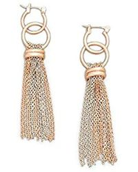 Kenneth Cole - Rose Gold-tone Two-tone Drop Earring - - Lyst