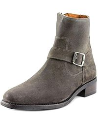 Frye - Hannah Engineer Round Toe Suede Ankle Boot - Lyst