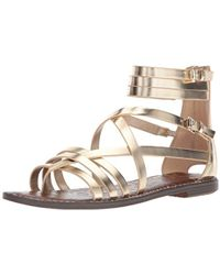 Sam Edelman - Ganesa (molten Gold Foiled Metallic Leather) Women's Shoes - Lyst