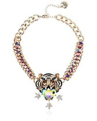Betsey Johnson - Mystic Baroque Queens Gold Tiger Statement Pendant Necklace - Lyst
