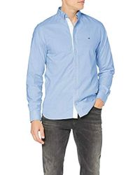 637d906ac Tommy Hilfiger Organic Oxford Stripe Shirt Casual in Blue for Men - Lyst