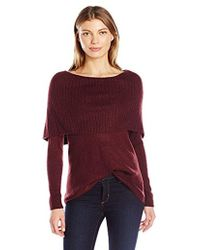 Kensie - Tissue Knit Sweater With Cowl Neck - Lyst