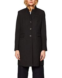Esprit - 029ee1g001, Abrigo para Mujer, Negro (Black 001) Medium - Lyst