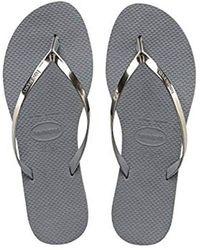 Havaianas - You Metallic Flip Flops - Lyst
