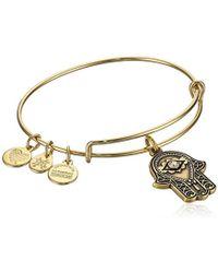 ALEX AND ANI - Hand Of Fatima Iii Bangle Bracelet Expandable - Lyst