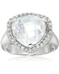CZ by Kenneth Jay Lane - Trillion Shape Cz Ring, Size 7 - Lyst