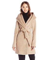 Trina Turk - Grace Wool-blend Belted Wrap Coat - Lyst