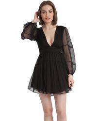 438fb2f80f0 Karina Grimaldi - Olga Solid Long Sleeve Mini Dress In Black - Lyst