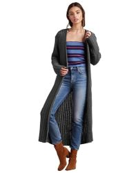 Lovers + Friends - Harlowe Maxi Cardigan In Charcoal - Lyst
