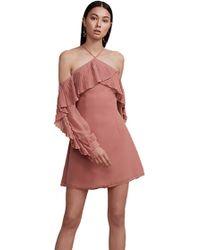 Keepsake - Keepsake Last Dance Long Sleeve Mini Dress In Spice - Lyst