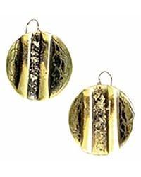 Sibilla G Jewelry - Sibilla G Oxidized Brass Circle Earrings - Lyst