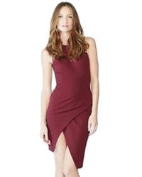 Blaque Label | Knit Overlay Dress In Wine | Lyst