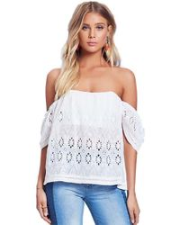 Lovers + Friends - Lovers + Friends Life's A Beach Top In Ivory - Lyst