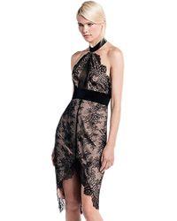 StyleStalker - Allende Lace Midi Dress In Noir - Lyst