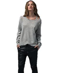 Sen Collection - Vasayan Cashmere Sweater With Cut Outs In Slate Blue - Lyst