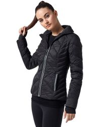 BLANC NOIR - Puffer Jacket With Reflective Insert In Black - Lyst