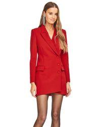 Astr - Lina Coat Dress In Lipstick Red - Lyst