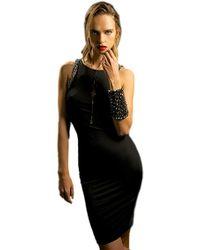 Sheri Bodell - Trim Midi Dress In Black - Lyst