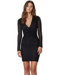 Bec & Bridge | Gypsy Lace Plunge Mini Dress In Black | Lyst