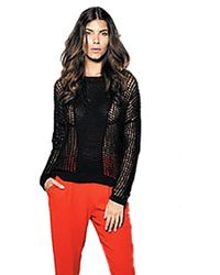 Sen Collection | Kriss Crochet Sweater In Black | Lyst