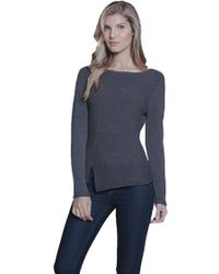 Metric Knits - Boatneck Sweater In Heather Navy - Lyst