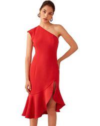 Keepsake - Keepsake Mirrors Midi Dress In Red - Lyst