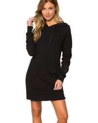 Spiritual Gangster | I Am The Light Hoodie Dress In Black | Lyst