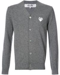 Play Comme des Garçons - Cardigan With White Heart - Lyst