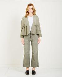 AMO | Flounce Jacket- Gray Green | Lyst