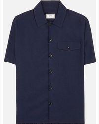 AMI - Camp Collar Short Sleeves Shirt - Lyst