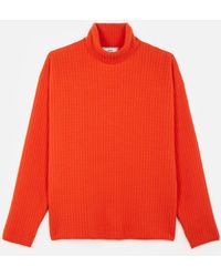 AMI - Turtleneck Oversize Fit Double Face Rib Jumper - Lyst