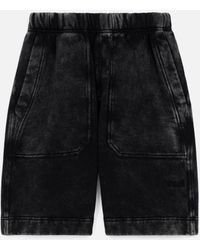 AMI - Short With Acid Washed Effect - Lyst