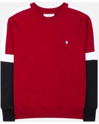 AMI - Sweatshirt tricolore - Lyst