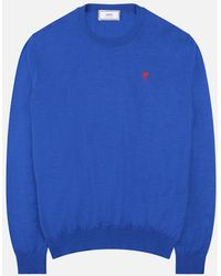 AMI - Ami De Coeur Crewneck Sweater - Lyst