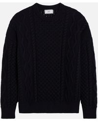 AMI - Irish Crewneck Oversize Sweater - Lyst