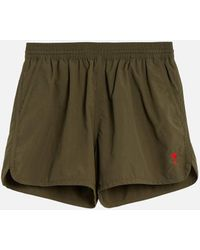 AMI - Swim Shorts Plain Color With Ami De Coeur Embroidery - Lyst