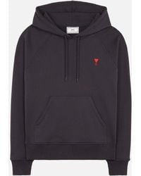 AMI - Ami De Coeur-embroidered Hoodie - Lyst