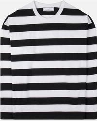AMI - Striped Long Sleeved T-shirt - Lyst