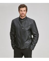 7a2c9961574 Lyst - Guess Jacket Leather Moto Jacket in Brown for Men