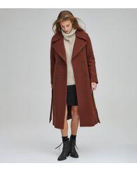 Andrew Marc - Alva Wool Belted Coat - Lyst