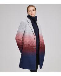 Andrew Marc - Belair Ombre Wool Car Coat - Lyst