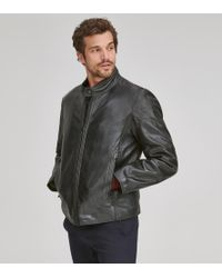 Andrew Marc - Emerson Leather Moto Jacket - Lyst
