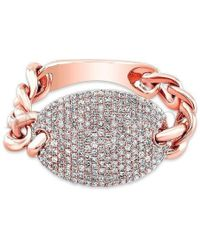 Anne Sisteron | 14kt Rose Gold Diamond Bean Ring | Lyst