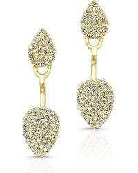 Anne Sisteron - 14kt Yellow Gold Pear Shaped Floating Earrings - Lyst