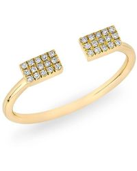 Anne Sisteron - 14kt Yellow Gold Diamond Double Mini Brick Ring - Lyst
