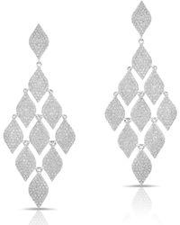 Anne Sisteron - 14kt White Gold Diamond Egyptian Earrings - Lyst