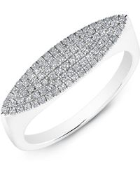 Anne Sisteron - 14kt White Gold Diamond Capri Ring - Lyst