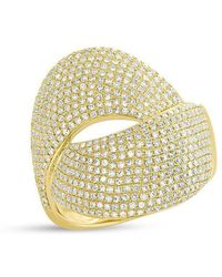 Anne Sisteron - 14kt Yellow Gold Diamond Luxe Twist Ring - Lyst