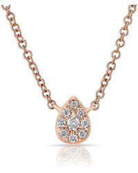 Anne Sisteron - 14kt Rose Diamond Mini Pear Necklace - Lyst